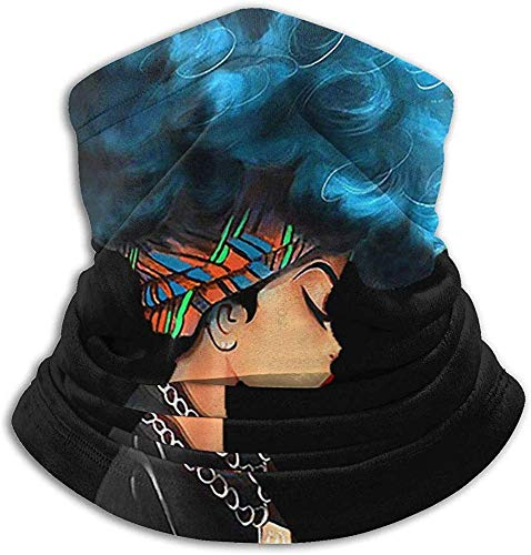 Unisex Afro Girl African American Winter Neck Warmer Gaiters Hairband Weather Face Mask Thermal Neck Scarf UV-bescherming Party Cover