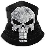 Punisher Unisex Microfiber Neck Warmer Neck Gaiter Face Mask Skull Bandana Balaclava Black