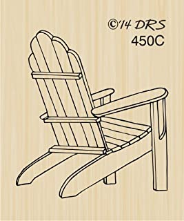 Adirondack Chair Rubber Stamp By DRS Designs