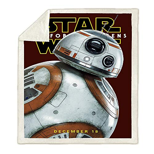 HLSM Star Wars Decke, Fleece, 3D-Druck, Fleece-Decke, Mikrofaser-Fleece-Decke, Digital Super Soft Kids Flanell-Decke, A09, 150X200CM