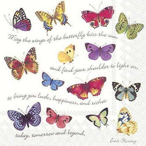 20 Servietten Schmetterlinge, 25x25cm, IHR