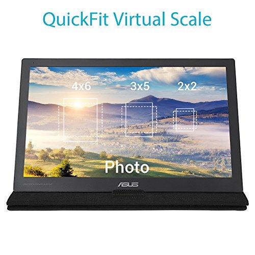 Asus MB169C+ 39,6 cm (15,6 Zoll) Monitor (USB Type C, 5ms Reaktionszeit, Full HD) schwarz