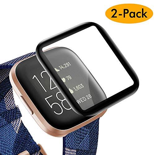KIMILAR Schutzfolie Kompatibel mit Fitbit Versa 2 Displayschutzfolie (Nicht für Fitbit Versa/Versa Lite/SE) [2 Stück], 3D Vollständige Abdeckung Panzerglas Folie für Fitbit Versa 2 Smartwatch