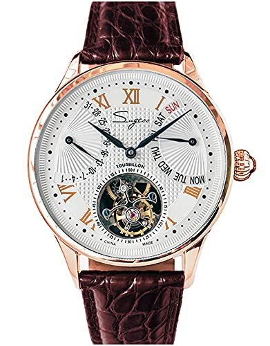 SU8004GW Tourbillon Master Gaviota ST8004 Movimiento Zafiro Cristal Reloj Mecánico para Hombre 1963