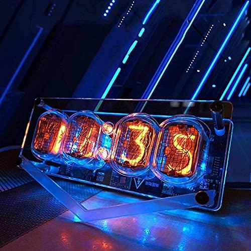 Ylight Reloj Nixie Tube Vintage, Reloj Digital LED Colorido Vintage Producto Terminado,...