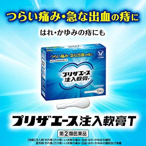 【指定第2類医薬品】プリザエース注入軟膏T10個