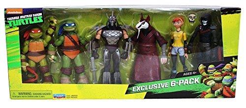 Playmates Toys Nickelodeon Teenage Mutant Ninja Turtles Exclusive 6 Pack Figure Box