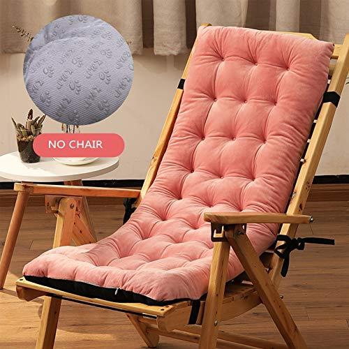 YYEWA - Cuscino per chaise longue da giardino, per sedie a sdraio, con imbottitura spessa, senza sedia, colore: arancione
