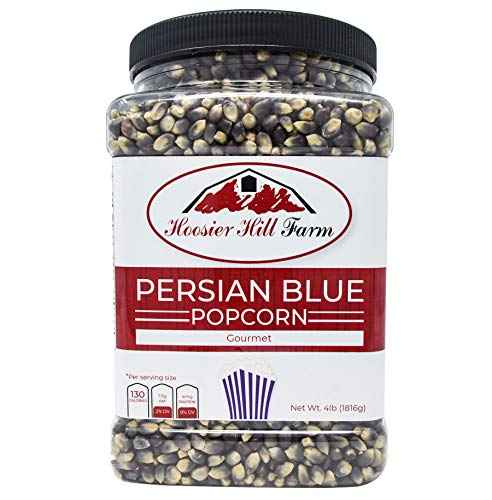 Hoosier Hill Farm Gourmet Persian Blue, Popcorn Lovers 4 lb. Jar.