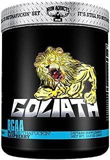 Goliath   Iron Addicts   BCAA Amino Acid Formula   Formulated By CT Fletcher (30 Servings, Blue MothaF*ckin Raspberry)