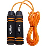Redipo Weighted Jump Rope (1LB) Thick Speed Cable with Solid Core with Memory Foam Handles for Cadio,Boxing,MMA,Fitness Workouts and Endurance Training,Jumping Exercise