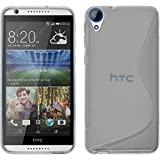 PhoneNatic Case kompatibel mit HTC Desire 820 - Clear Silikon Hülle S-Style + 2 Schutzfolien