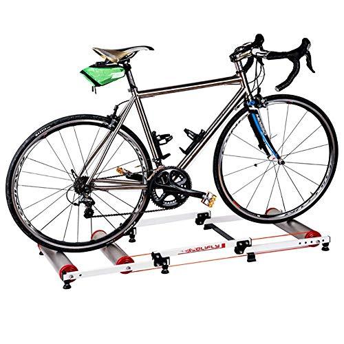 YLCJ Indoor Bike Trainer Geschwindigkeit Einstellbar mit variablem Widerstand Bike Trainer Stand Bike Trainer Stand Stahl Fahrrad Übung Lärm Übung Fitness Stationärer Rahmen