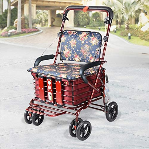 GAOXQ Sales for sale Folding Shopping Cart Portable Indianapolis Mall Scooter for El The