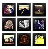 Tiny Mighty Frames Juego de 9 marcos de fotos de madera natural, cuadrado, Instagram, de 4 x 4 (9, negro)