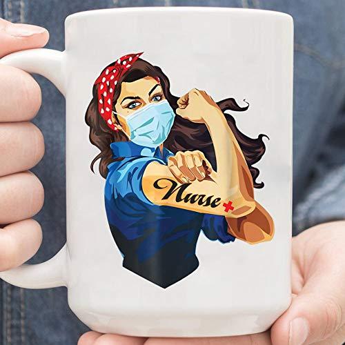 Nurse Strong mug,Nurse Strong Woman Warrior 2020 Corona-virus Fighting Love Nursing mug,Coffee Mug