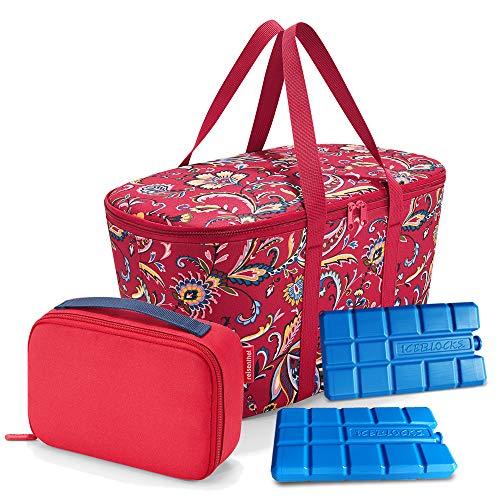 Set aus reisenthel coolerbag, reisenthel thermocase, 2 Kühlakkus, UHOY2C Kühl Set, Paisley Ruby + red (30673004)
