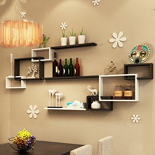 DWW-Étagère Produits rack multi-compartiment dsensity board noir et blanc peinture DIY combinaison maison étagère de rangement