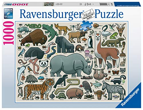 Ravensburger Puzzle 1000 Pezzi, Illustrazione Animali Selvaggi, Collezione Fantasy, Puzzle Animali, Jigsaw Puzzle per Adulti, Puzzle Ravensburger - Stampa di Alta Qualità