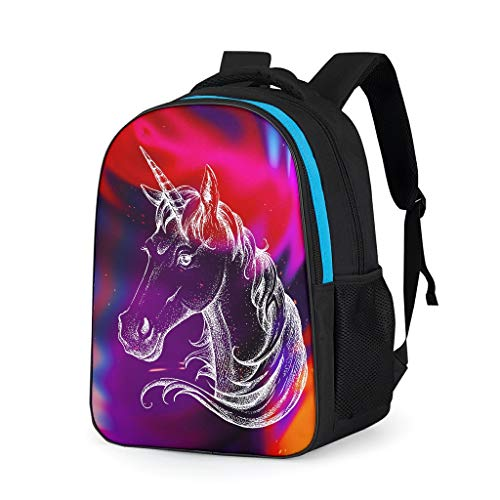 NeiBangM Unicorn Rugzak, uniseks, laptopvak, rugzak, voor jongens en computer, reistas voor jongeren