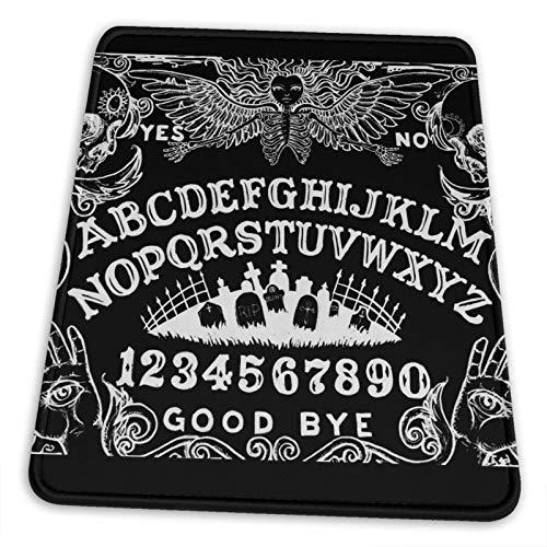 Alfombrilla de ratón para juegos con base de goma antideslizante, Ouija Board de franela negra para ordenador Macbook, PC, portátil, escritorio (negro)