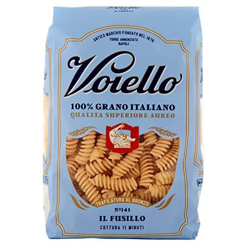Voiello Pasta Fusilli N.141, Pasta Corta di Semola Grano Aureo 100%, 500g