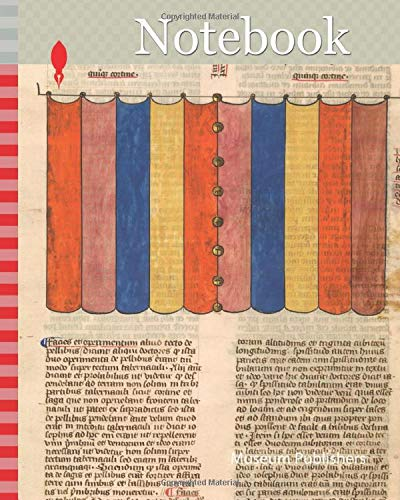Notebook: Curtain of the Tabernacle, one of six illustrated leaves from the Postilla Litteralis (Literal Commentary) of Nicholas of Lyra, ca. 1360–1380, French, Opaque watercolor