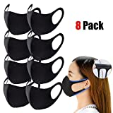 Running Pet 8 Pack Unisex Mouth Mask Dust Mask Anti Dust Pollution Face Mouth Mask, Washable Reusable Mouth...