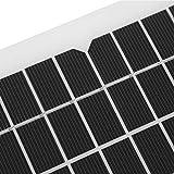 Kit de panel solar, 3 metros de cable de carga, 18 V, 5 W, 5 W, cargador solar para automóvil, fácil de usar, prolonga la vida útil de la batería, estable para el hogar, automóvil, barco,