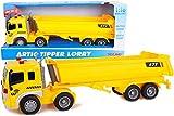 Toyland Camion Ribaltabile articolato Giallo 40 cm con luci e Suoni - I Ragazzi Giocano con i Veicoli