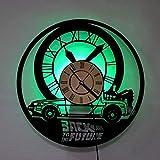 Orologio da Parete in Vinile Ritorno al Futuro ha Condotto la Luce Retro Vinyl Record Clock 12 Pollici Decorazione Sette Colori