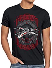 style3 Red Leader Camiseta para Hombre T-Shirt t-65 x-Wing