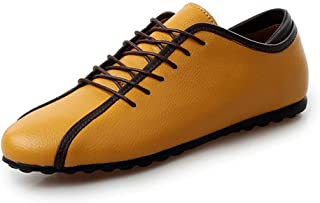 Mocasines Hombres Zapatos de Vestir Casuales Holgazanes Slip On Verano Plano Cuero Zapatos de Conducción Zapatillas