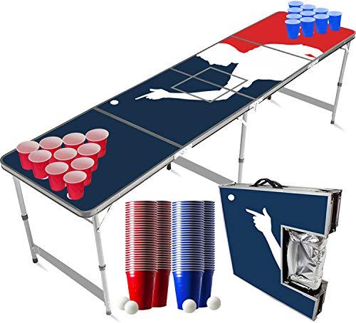 Pack Beer Pong Officiel Glacière   1 Table Beer Pong + 120 Cups (60 Blue & 60 Red) + 6 Balles   Kit Complet   Qualité Premium   Table Officielle   Inrayable   Apéro   Jeu à Boire   OriginalCup®