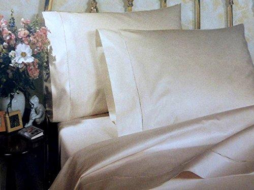 Sferra Allegro Long Staple Cotton Sateen 600-Thread Count Queen Sheet Set, White