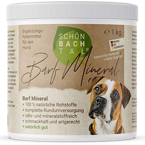 SCHÖN BACH TAL Barf Mineralien Complete Zusatz, 100% natürliche Rundumversorgung für Hunde 1 kg, hochwertig + sehr ergiebig