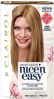 Clairol Nice 'n Easy Color Blend Foam Hair Color, 7, Dark Blonde, 2 pk
