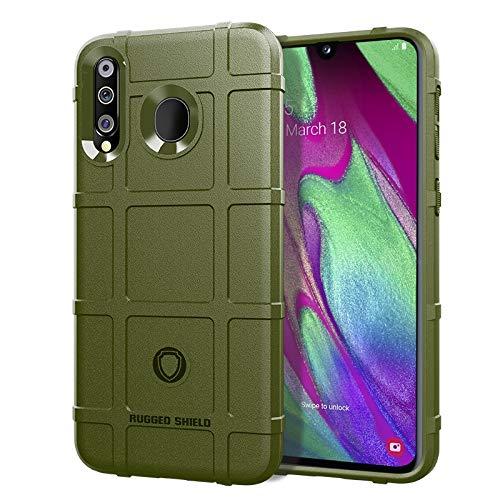 MENGHONGLLI Teléfonos móviles Maletas de Transporte Funda Protectora de Silicona de Cobertura Total a Prueba de Golpes para Galaxy A40s (Color : Army Green)