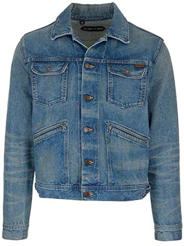Tom Ford Luxury Fashion Herren BUJ21TFD116B46 Blau Baumwolle Jacke | Frühling Sommer 20