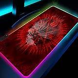 Alfrombrillas de ratón para Gamers RGB de Superficie Lisa roja...