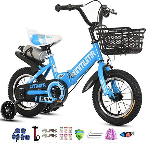 WYBD.Y Bicicleta sólida para niños de 14 Pulgadas para niños y niñas...