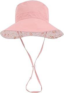 Wide Brim Bucket Sun Hat UV50+ Protection - Summer Boonie Fishing Beach Hats - Packable Outdoor Floppy Cap - Women Men