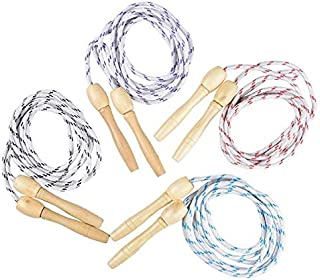 Rhode Island Novelty 7ft Jump Rope with Wooden Handles   Pack of 12