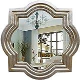BXU-BG Espejo de baño de maquillaje europeo dormitorio porche decorativo espejo de pared (color # 3)