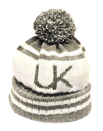 Underground Kulture Gris Collège Bonnet Chapeaux (College Beanie Hat Grey)