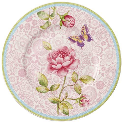 Villeroy & Boch Frühstücksteller pink Rose Cottage Vorteilsset 4 x Art. Nr. 1041412654 und Gratis 1 Trinitae Körperpflegeprodukt