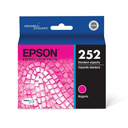EPSON T252 DURABrite Ultra Ink Standard Capacity Magenta Cartridge (T252320-S) for select Epson WorkForce Printers