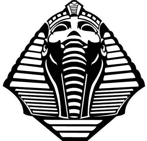 myrockshirt Pharao Tutanchamun Maske ca 20 cm Aufkleber,Sticker,Decal,Autoaufkleber,UV&Waschanlagenfest,Profi-Qualität