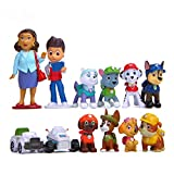 Morofme Paw Dog Patrol Cake Toppers-12Pcs Paw Patrol Birthday Cake Topper Cupcake Topper, Children Mini Figurines Toy, Paw Patrol Cake Decorations for Kids Birthday & Baby Shower & Paw Theme Party Supplies