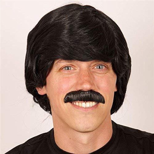 PARTYLINE Perruque Homme Noir avec Moustache